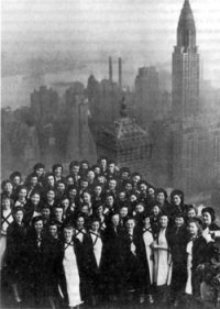 KSS foran Empire State Building i New York i 1948